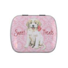 Valentine Rose Great Pyrenees Candy Tins - Saint Valentine's Day gift idea couple love girlfriend boyfriend design