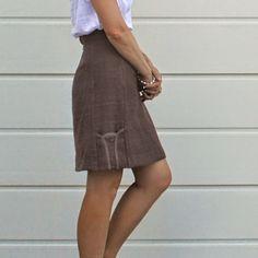"Handmade by Carolyn: purple skirt, with ""tulip"" pockets"