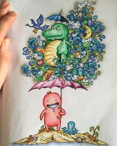 Doodle invasion by @andywalton7 #doodles #mandala #art #arttherapy…