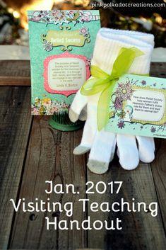 Jan 2017 Visiting Teaching Handout - Free printable cards!