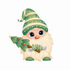 Christmas Tree With Gifts, Christmas Gnome, Merry Christmas Card, Christmas Stickers, Christmas Design, Christmas Greeting Cards, Christmas Art, Christmas Greetings, Winter Christmas
