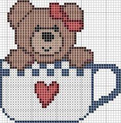 Teddy bear in a mug