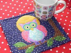 Purple Owl Mug Rug 3 | Flickr - Photo Sharing!