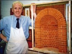 Miniature niche in gauged brickwork, cut, rubbed, and built by Gerard Lynch, as a masterpiece investigating historic craft materials, tools, and practices for his PhD.