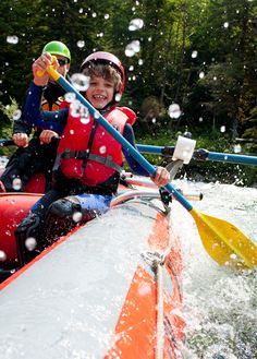 Rafting on a class 2 river. Good for kids of all ages! Clayoquot Wilderness Resort. www.wildretreat.com