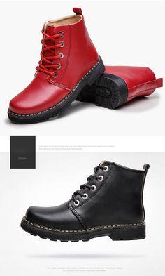 $24.75- Women's Vogue Lace-up Plush Boots  #omgnb #boots #lace-upshoes
