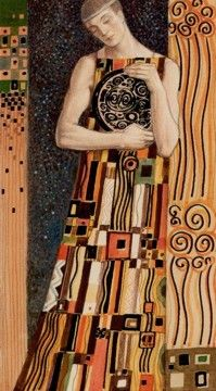 Page of Coins - Golden Klimt Tarot