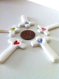 Baptism favors First Communion favors by clareyclayworks on Etsy, $36.00