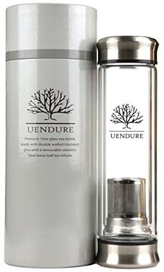UEndure Tea Infuser - Tea Tumbler Tea Cup with Loose Leaf Tea Strainer - Portable Teapot with Stainless Steel Filter Basket - Glass Water Bottle for Ice Tea and Essential Oils -- Find out more about the great product at the image link.