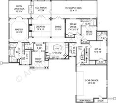 Tilly House Plan - Best Selling - House Plan -  First Floor Layout