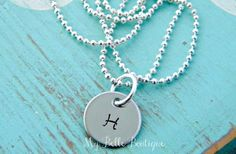 GroopDealz | Personalized Hand Stamped Initial or Single Name Necklace