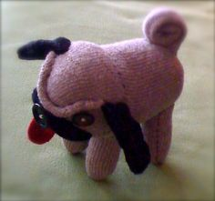 Sock Pug made to order by poststreet on Etsy