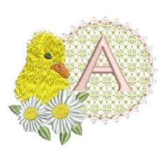 Baby Duck Alpha Embroidery Monogram, Embroidery Applique, Machine Embroidery, Embroidery Designs, Baby Ducks, Cute Babies, Alphabet, Sewing Projects, Kids Rugs