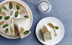 Vanilje, estragon og mynte klæder hinanden smukt i denne smagfulde kage. Nydes med en kop varm myntete.