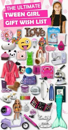 Gifts For Tween Girls 2019 – Best Gift Ideas- Parents save this list! This ultimate list contains over Birthday and Christmas gifts for tween girls. If she wants it , it is guaranteed to be on this list. Birthday Gifts For Teens, Christmas Gifts For Girls, Birthday Gifts For Girlfriend, Birthday Presents, Xmas Gifts, Diy Gifts, Best Gifts, Birthday Crafts, Birthday Ideas