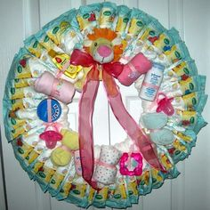 Baby Shower Wreath | How To Make Diaper Wreaths