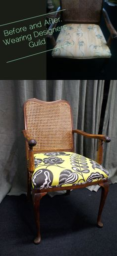 A gorgeous wee re-upholstery job we did using Designers Guild Coconut Grove 'acacia'.