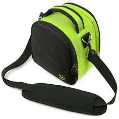 (Lime Green) Laurel VG Camera Bag w/ Removable Shoulder Strap for Fujifilm FinePix X100 / X100S / X20 / X10 / SL300 / SL305 / SL280 / SL260 / SL240 / S6600 / S6700 / S6800 / S4600 / S4700 / S4800 / S4200 / S4300 / S4400 / S4500 DSLR Digital Cameras * You can get more details by clicking on the image.
