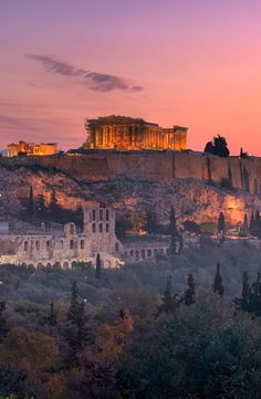 View of Acropolis from the Philopappos Hill Places Around The World, The Places Youll Go, Travel Around The World, Places To Visit, Around The Worlds, Dream Vacations, Vacation Spots, Beautiful World, Beautiful Places