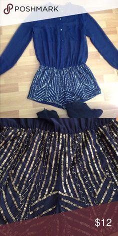 Zars sequin romper Zara sequin romper size  M Zara Pants Jumpsuits & Rompers