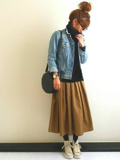 Levi'sのデニムジャケットを使ったAyumiのコーディネートです。WEARはモデル・俳優・ショップスタッフなどの着こなしをチェックできるファッションコーディネートサイトです。