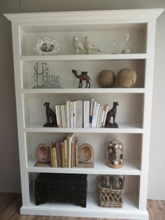Off White Bookshelf Distressed French Provincial Shabby Chic