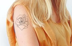 This geometric rose. | 26 Temporary Tattoos Perfect For Every Commitment-Phobe