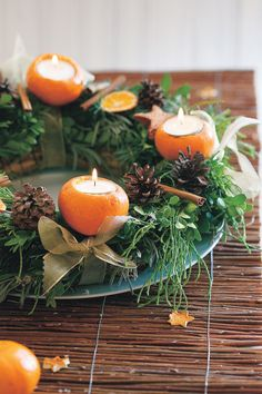 Voňavý adventní věnec krok za krokem Christmas Decorations, Table Decorations, Christmas Mood, Champagne, Diy, Home Decor, Candle, Decoration Home, Bricolage