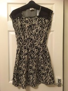 Urban Outfitters Pins and Needles Ladies Dress Size L UK 16 Black & White   | eBay
