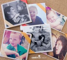 How to make photo coasters | fun & easy DIY on the Cardstore Blog