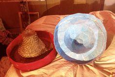 Hat box - open showing inside lid