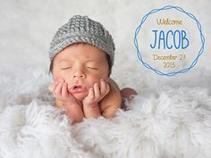 Birth Announcement Photo Overlays #photography #photographer #overlays