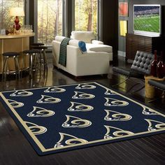 a50f8864a Los Angeles Rams Rug Repeating Logo