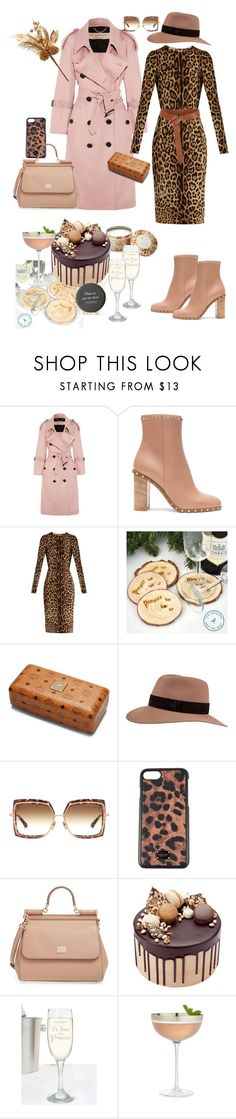 """""""The Animal Print Shop"""" by bm-bojanamilanovic ❤ liked on Polyvore featuring Burberry, Valentino, Dolce&Gabbana, Iris & Ink, Maison Michel, Dita, Bellini, Crate and Barrel and me you"""