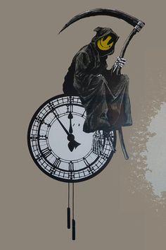 Banksy Grin Reaper, Graffiti – METAL ART Banksy