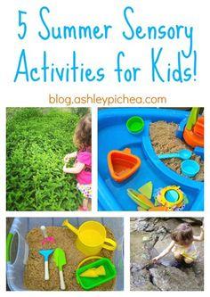 5 Summer Sensory Activities for Children | Summer Bucket List series on blog.ashleypichea.com