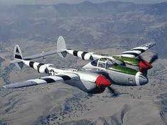 USAF's P-38 Lightning Fighter Plane...