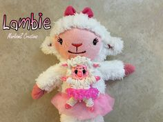 Doc McStuffins Lambie made from Rainbow Loom bands - Now on YouTube
