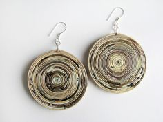 Paper earrings * blureco https://www.facebook.com/blureco.jewellery