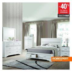 Un dormitor strălucitor te face să te simți ca o vedetă de fiecare dată când te așezi în pat. #pat #dormitor #mobexpert