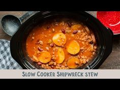 This unique recipe for Slow Cooker Shipwreck Stew is hearty and has great flavor. Vintage Recipes, Unique Recipes, Ethnic Recipes, Slow Cooker Recipes, Crockpot Recipes, Crockpot Dishes, Soup Recipes, Crock Pot Cooking, Cooking Time