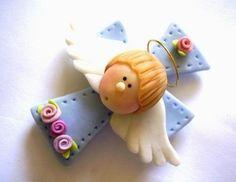 souvenirs bautismos 1er añito nacimientos porcelana fria By Maria Elena Lopez