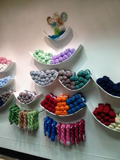 "Miscellaneous: cool and creative yarn storage idea (yarn is from ""Cascade Yarns"")"