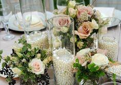 40 Glass Cylinder Wedding Centerpiece Ideas – Hi Miss Puff