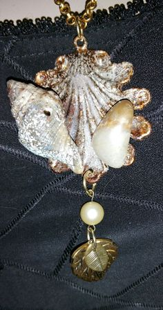 August Challenge 8-29--Ocean Shells and Iced Enamels.  SLG Jewelry Designs. https://www.etsy.com/shop/SLGJewelryDesigns?ref=hdr_shop_menu