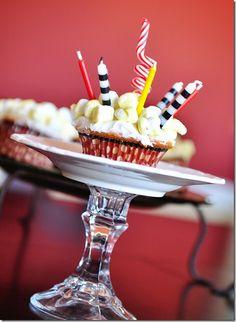 Movie themed party - popcorn cupcakes