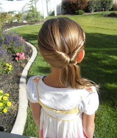11 Easy Hairstyles to Get Your Kids Out the Door Fast via Brit + Co. kids hairstyles 11 Easy Hairstyles to Get Your Kids Out the Door Fast Baby Girl Hairstyles, Cute Hairstyles, Hairdos, Wedding Hairstyles, Hairstyle Ideas, Hairstyles 2016, Beautiful Hairstyles, Natural Hairstyles, Simple Hairstyles For Girls