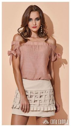 Swans Style is the top online fashion store for women. Shop sexy club dresses, jeans, shoes, bodysuits, skirts and more. Blouse Styles, Blouse Designs, Boho Fashion, Fashion Dresses, Fashion Design, Casual Chic, Skirt Outfits, Casual Outfits, Bohemian Mode