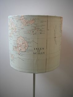 Vintage Map Lampshade by Lightheway on Etsy, £25.00