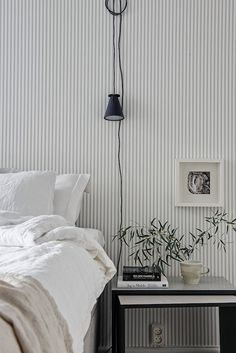 Soothing stripes in grey and white